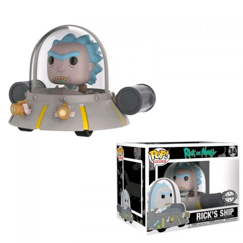 Funko POP Rides Rick En Nave Espacial Rick & Morty Exclusivo 9
