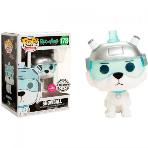 Funko POP Bola De Nieve (Snuffles) Flocked Rick & Morty Exclusivo 12