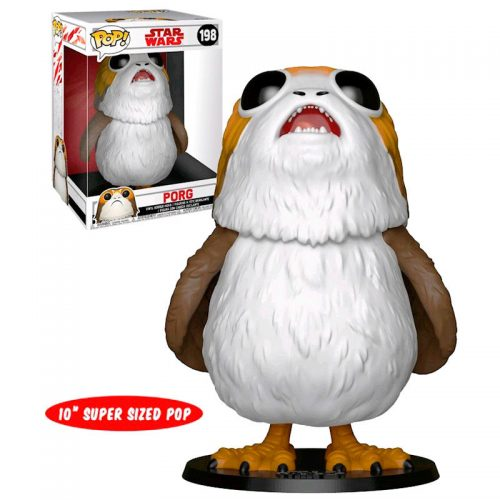 "Funko POP Porg Gigante Exclusivo Star Wars Los Últimos Jedi 25cm Super Sized 10"" 8"