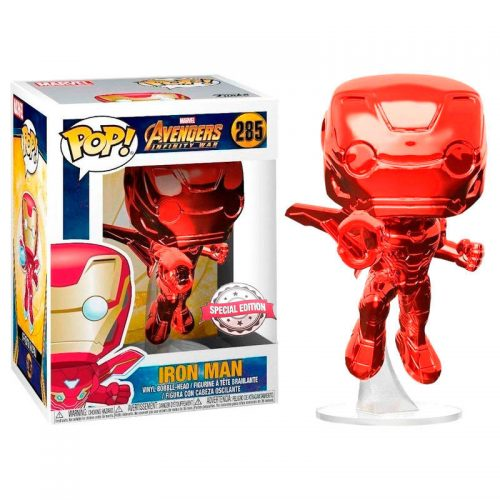 Funko POP Marvel Avengers Infinity War Iron Man Red Exclusivo 9