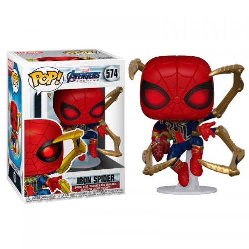 Funko POP Marvel Spiderman Vengadores Endgame Iron Spider with Nano Gauntlet 6