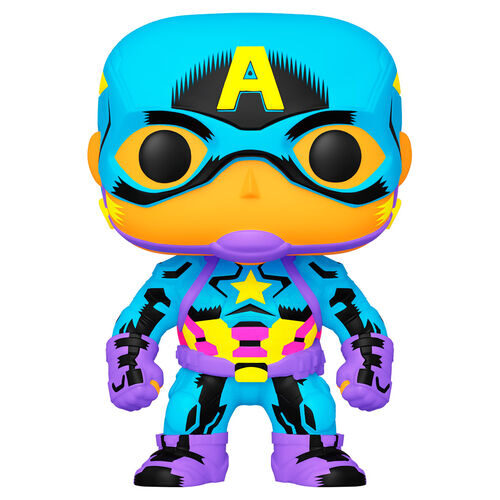 Funko POP Capitán América - Black Light - Marvel 3