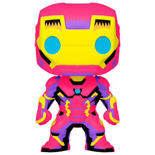 Funko POP Iron Man - Black Light - Marvel 9