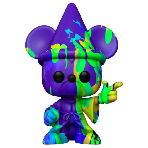 Funko POP Mickey Mouse Art Series (Morado y Verde) - Fantasía 80 Aniversario - Disney 11