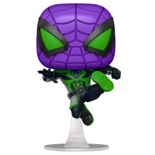 Funko POP Miles Morales (Purple Reign Suit Metálico) - Spiderman Miles Morales PS5 - Marvel 4