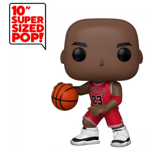 "Funko POP Michael Jordan Red Jersey Gigante NBA Chicago Bulls 25cm Super Sized 10"" 10"