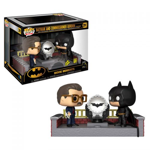 Funko POP Movie Moment DC Comics Batman 80th Lights Up Bat Señal Con Luz 3